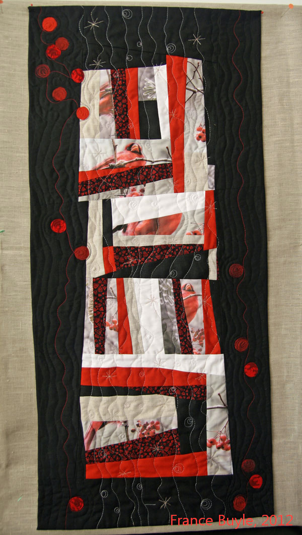 art quilt Winter solstice France Buyle