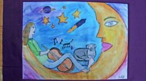 Imprimer sur tissu des dessins d'enfants