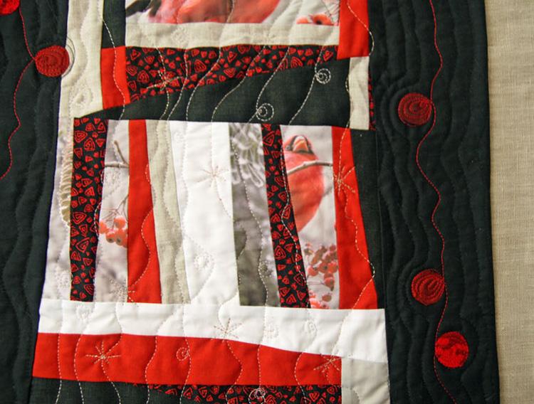 Sostice d'hiver - art quilt detail
