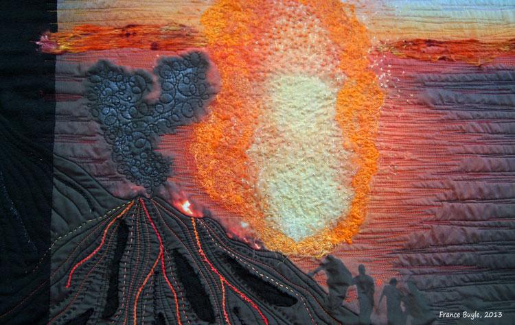 Art quit Stromboli France Buyle