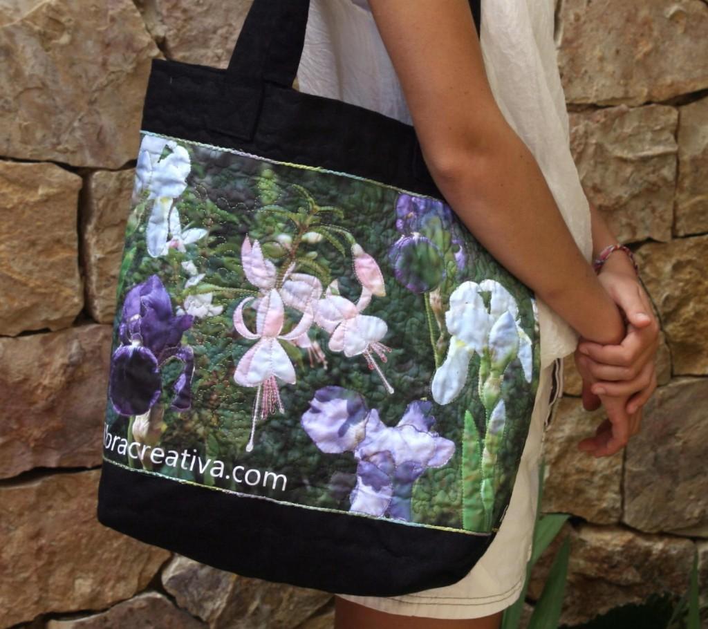 sac en lin avec impression de photo sur tissu