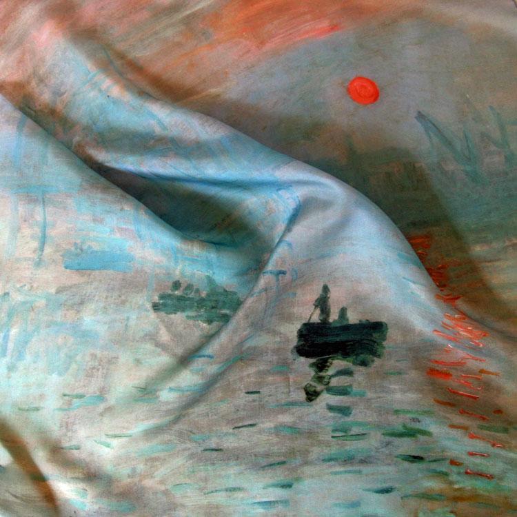 foulard de soie claude monet impression