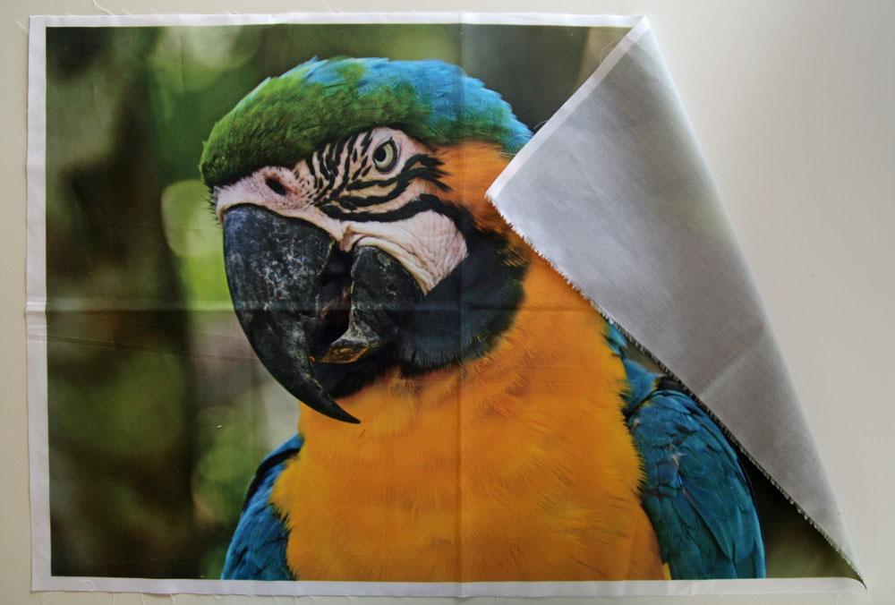 impression numérique de photo sur tissu