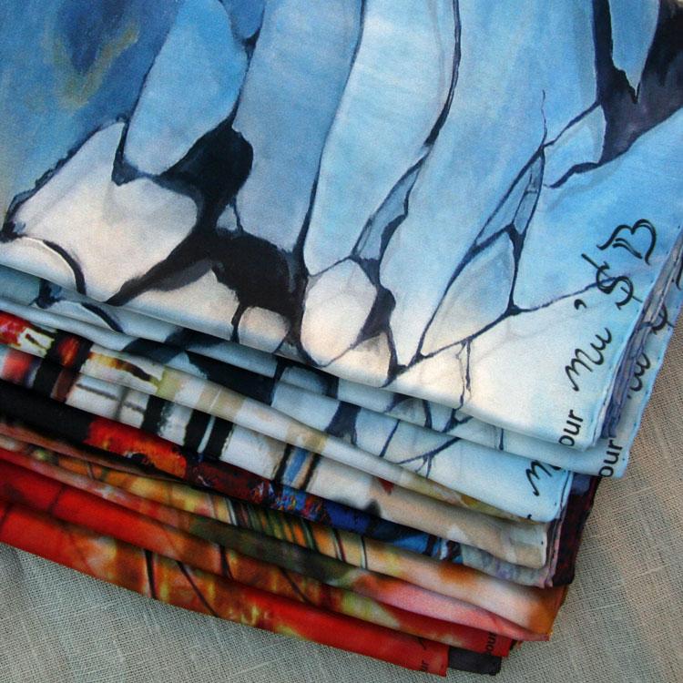 Foulards de soie personnalis s cr er votre collection - Imprimer photo sur tissu ...