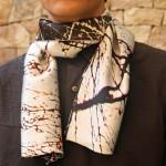 Pañuelo para hombre en satén de seda