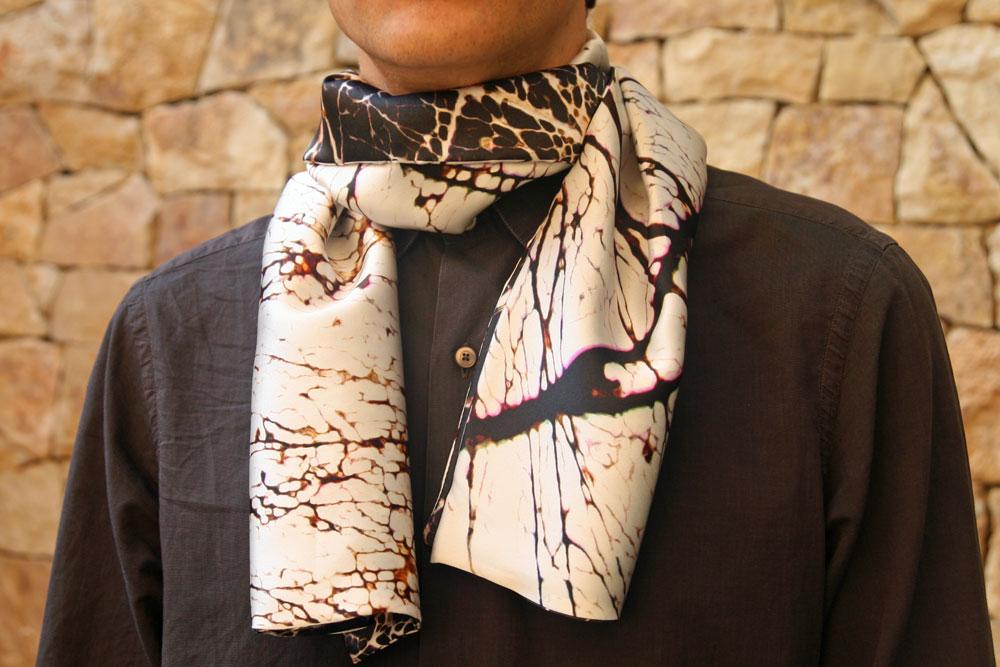 foulard en soie pour homme personnalisé