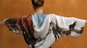 Estola-bolero de seda personalizado