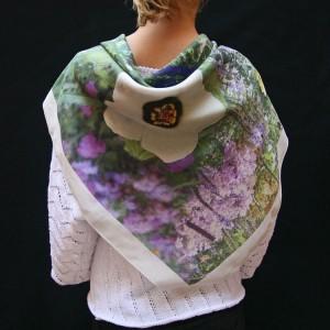 Large silk square 90x90 cm