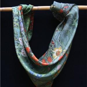 """Klimt silk scarf """"Sunflower garden"""""""