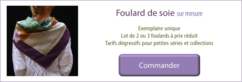 commande carrés de soie personnalisés