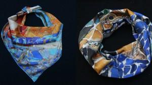 Pañuelos de seda personalizados: formatos clásicos y  formatos originales