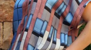 Blouse et robe en soie imprimée