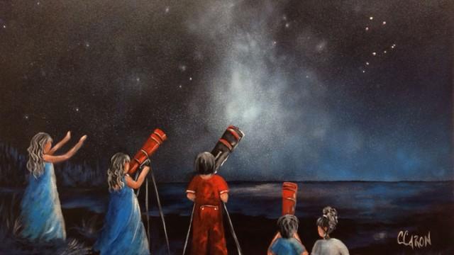 Carole Caron : 3 tableaux deviennent étoles-boléros