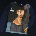 T-shirt allover Modigliani print long sleeve