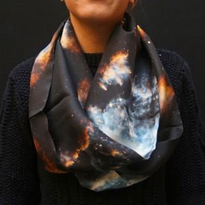 silk circle scarf