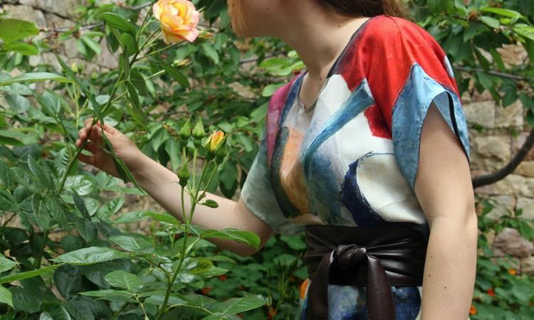 blouse en soie Macke