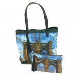 Custom printed linen handbag