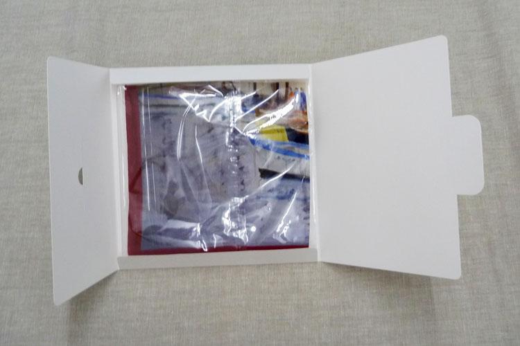 pochette cadeau pour foulard ouverte
