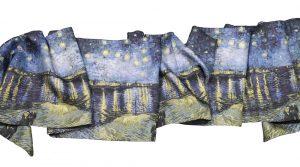 Foulards Van Gogh: la Nuit étoilée sur soie