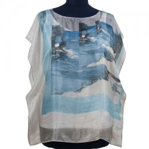 Silk Poncho Florida Searock