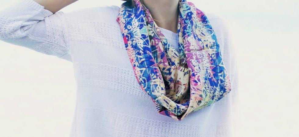 fular circular en seda Fibra Creativa