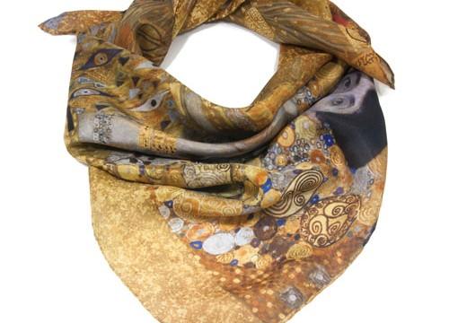 Klimt silk scarves