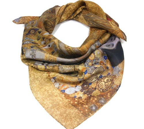Klimt silk scarves