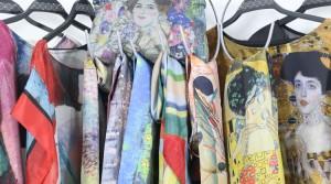 Accessoires et robes Klimt en soie