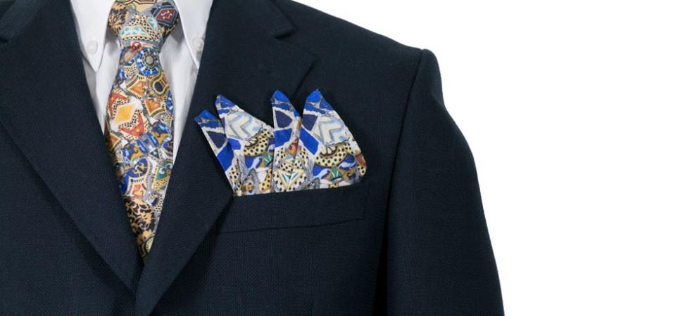 Complementos para hombre personalizados: fulares, corbatas, pajaritas y pañuelos de bolsillo de seda