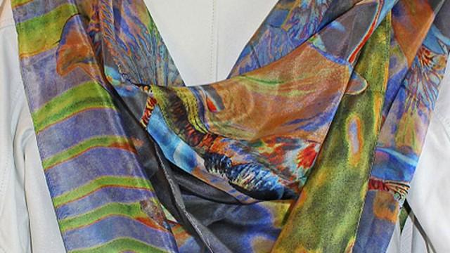 Lyrio : inspiration florale sur soie
