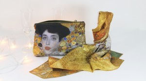 Golden silk Klimt accessories - Fibra Creativa
