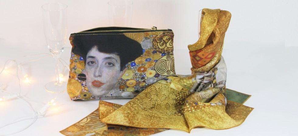Woman in gold: Klimt's painting inspires golden silk complements