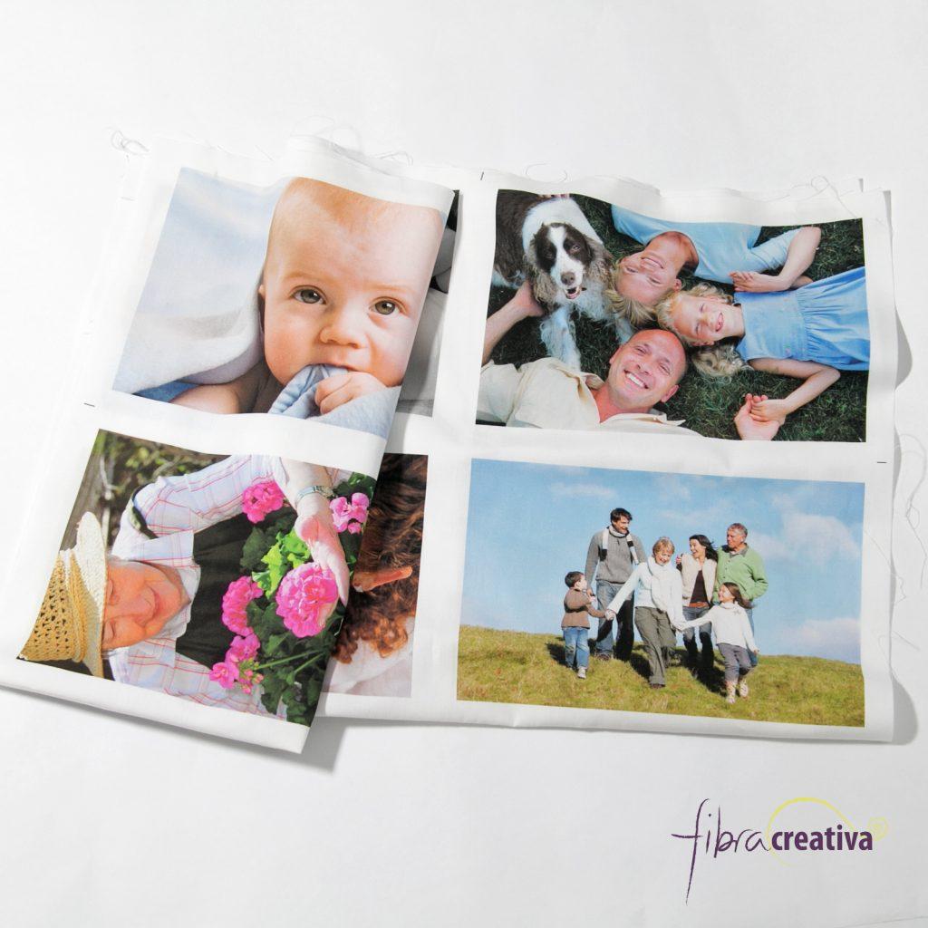 Panneau de photos imprimées sur tissu de coto, dimensions 15x10 cm - Fibra Creativa