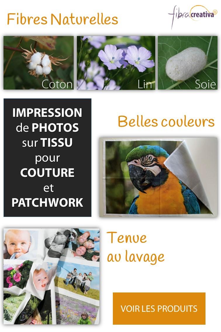 impression de photos personnalisée sur tissu de coton, lin et soie