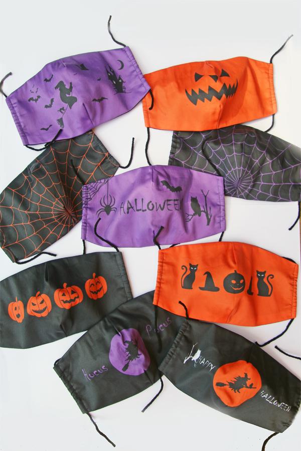 halloween fabric face masks