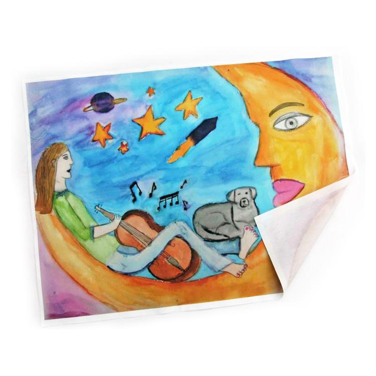 dessin d'enfant imprimé sur tissu de coton 60x40 m