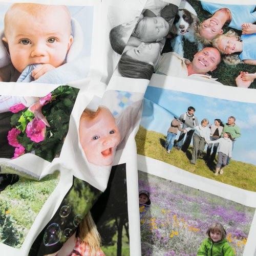 panneau de 12 photos de 10x15 cm imprimées dur tissu de coton pour patchwork Fibra Creativa