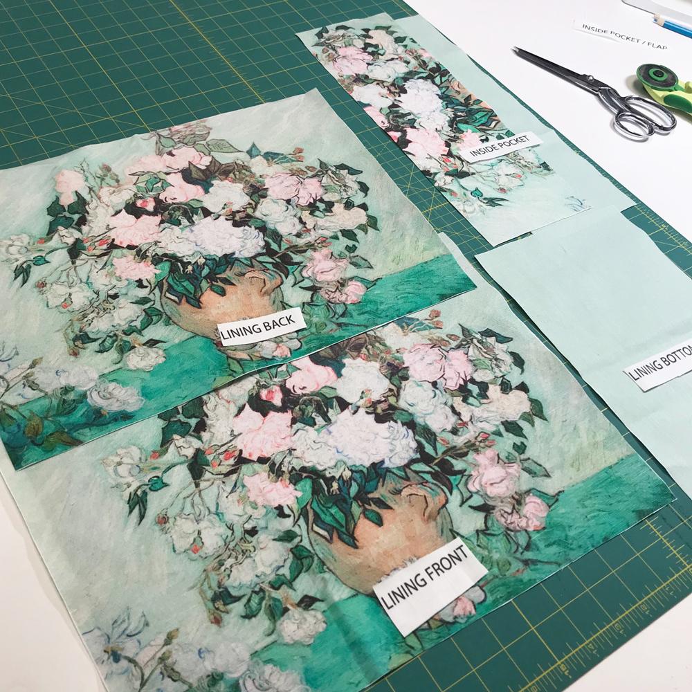 cut and sew tote bag pieces ready to sew - Fibra creativa