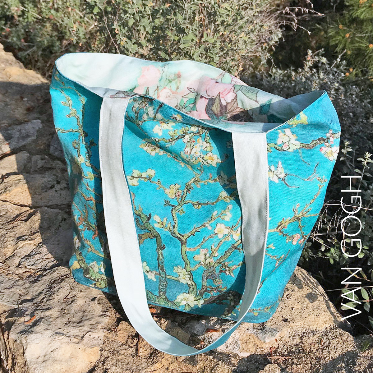 van gogh cut and sew tote bag blossoming almond tree